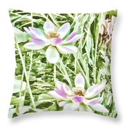 Blossom Pink Lotus Flower Throw Pillow