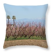 Blossom Trail 1 Throw Pillow