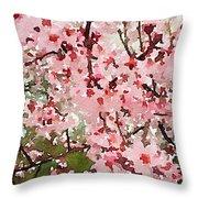 Blossom Trail Throw Pillow