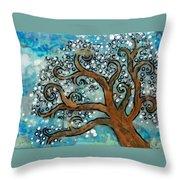 Blossom Tree - Miniature Art Throw Pillow