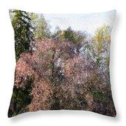 Blossom Tree Impressionist Throw Pillow