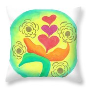 Blossoming From Within Throw Pillow