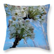 Blossoming Pear Throw Pillow