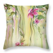 Blossoming Spring - Crab Apple Throw Pillow