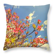 Blossoms Against The Sky Throw Pillow