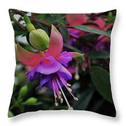 Blossoms And Blooms Throw Pillow
