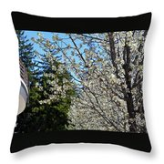Blossoms And The Bard Throw Pillow