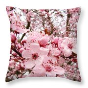 Blossoms Art Spring Pink Tree Blossom Floral Baslee Troutman Throw Pillow