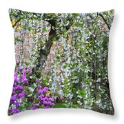 Blossoms Galore Throw Pillow