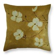 Blossoms I Throw Pillow