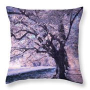 Blossoms In Winter Throw Pillow