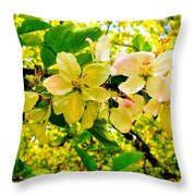 Blossoms Of Sunshine Throw Pillow