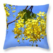 Blossoms Of The Golden Chain Tree Throw Pillow