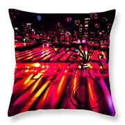 Blossoms Of The Night Throw Pillow