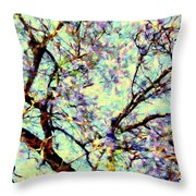 Blossoms Up Throw Pillow