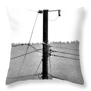 Blot On The Landscape Throw Pillow