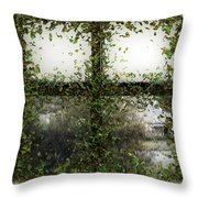 Blotted Out Throw Pillow