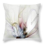 Blow Away Throw Pillow by Amanda Moore