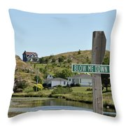 Blow Me Down Road Throw Pillow