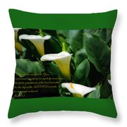Blow The Trumpet Throw Pillow