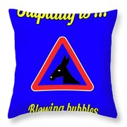 Blowing Bigstock Donkey 171252860 Throw Pillow
