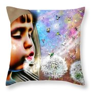 Blowing Blessings Throw Pillow