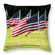 Blowing In The Wind One Throw Pillow