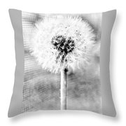 Blowing In The Wind Pencil Effect Throw Pillow