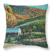 Blowing Rock Impressionist Throw Pillow