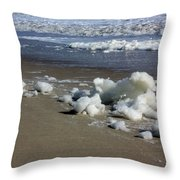 Blowing Seafoam Throw Pillow