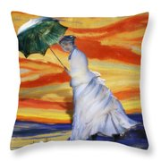 Blown Away From Red Skies Throw Pillow