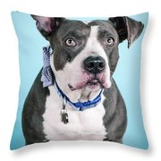 Blu 2 Throw Pillow