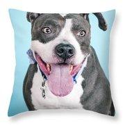 Blu 4 Throw Pillow