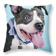 Blu 7 Throw Pillow