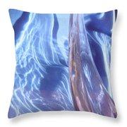 Blue 100 Throw Pillow
