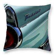Blue 1955 T-bird Throw Pillow by Douglas Pittman