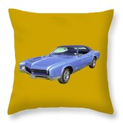 Blue 1967 Buick Riviera Throw Pillow