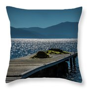 Blue 2 Throw Pillow