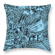 Blue Abstract - Lionfish Throw Pillow