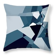 Blue Abstract 2 Throw Pillow