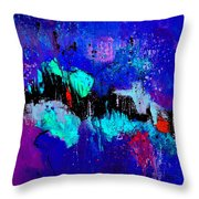 Blue Abstract 55698 Throw Pillow