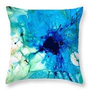 Blue Abstract Art - A Calm Energy - By Sharon Cummings Throw Pillow