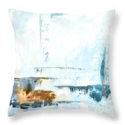 Blue Abstract 12m1 Throw Pillow