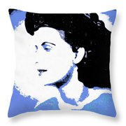 Blue - Abstract Woman Throw Pillow