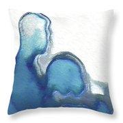 Blue Adam And Eve Throw Pillow