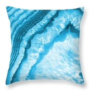 Blue Agate Slice Throw Pillow
