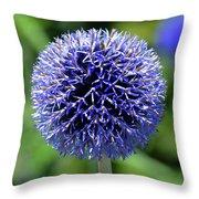 Blue Allium Throw Pillow