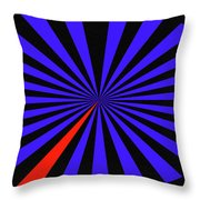 Blue And Black Abstract # 3 Throw Pillow