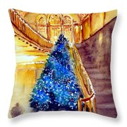 Blue And Gold 2 - Michigan Theater In Ann Arbor Throw Pillow