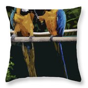 Blue And Gold Macaw 1 Throw Pillow